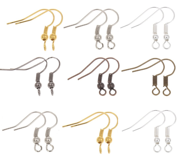 100pcs/lot DIY Earring Findings Earrings Clasps Hooks Fittings DIY Jewelry Making Accessories Iron Hook Earwire Jewelry(China (Mainland))