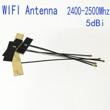 WIFI Antena Interna 5dBi Omni IPEX IPX Conector FPC Bluetooth Antena IEEE 802.11 b/g/n WLAN Sistema