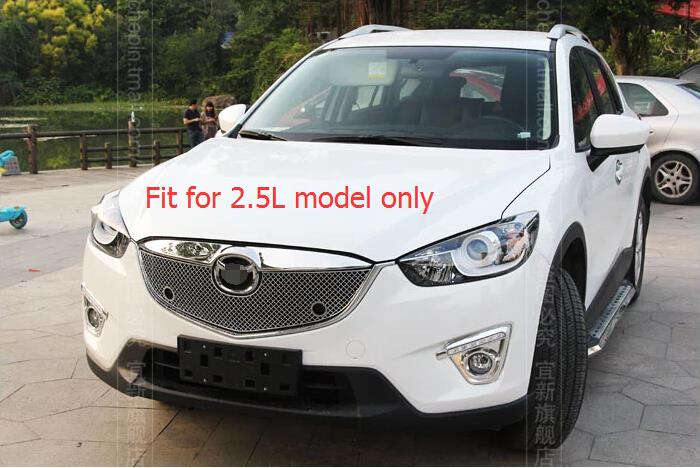 Фотография For Mazda CX-5 2012-2015 2.5L Model Stainless Steel Front Center Grille Around Cover Racing Grills