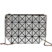 Clutches Women Geometric Clutch Bag Women Messenger Bag Patchwork Laser Clutch Purse Bag Ladies Fashion Make Up Bags(China (Mainland))