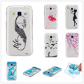 No Real for Samsung Galaxy Core Prime G360 Case Transparent Cartoon Pattern Cover Design Soft TPU