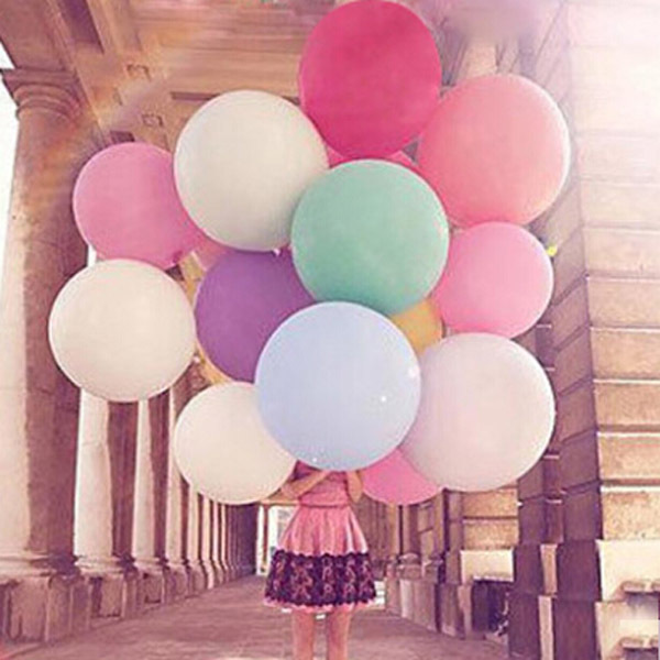 New wholesale big balloons 36 inches Round latex Balloons Wedding Party 5pcs/lot hot sale Valentines birthday Free shipping(China (Mainland))