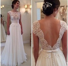 New arrivals from 2016 Custom Made Backless Wedding Dress Vintage Vestidos inventory spot De Noiva A Line Lace Bridal Gowns