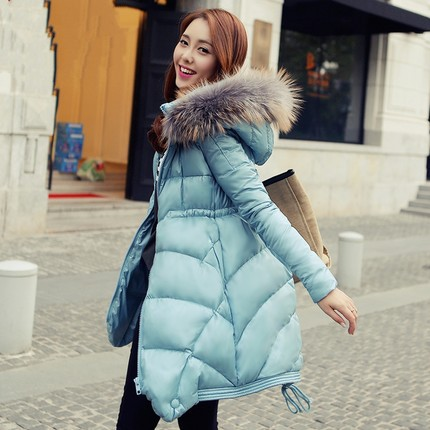 2016 Jacket Women Winter Coat Thicken Slim Female faux Fur Collar Long Parka puffer big size - Bandao global Group store