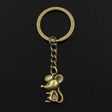 جديد الموضة المفاتيح 24x18 مللي متر ماوس المعلقات DIY بها بنفسك الرجال المجوهرات سيارة مفتاح سلسلة حلقة حامل تذكارية للهدايا(China)
