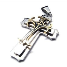 Stainless Steel Gothic Cross Men Pendant Necklace 10017016