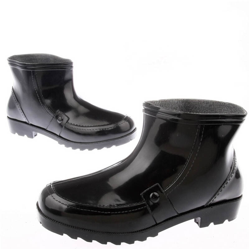 Wading Galoshes Four Seasons Labor Commuter Men Winter Single Shoes Rain Work Canister Boots Wear Glossy Booties Ankle Pantshoes