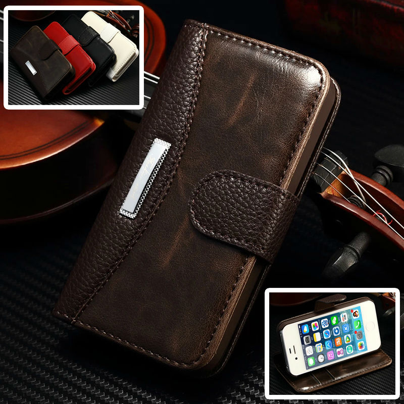 4S Fashion Business Luxury Classic Flip Case for Apple iPhone 4S 4 s iPhone4s Phone Wallet Stand with Card Holder Leather Cover(China (Mainland))