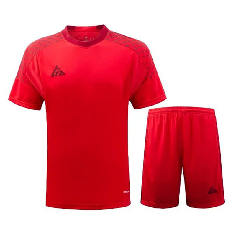 2016 new soccer jerseys kit Spanish style football suit for warm up trainning red shirt(China (Mainland))