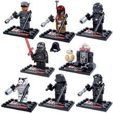 2016 NEW 8pcs/set Star Wars 7 The Force Awakens Minifigures Toys Building Blocks Bricks Star War Mini Figures Model Toys