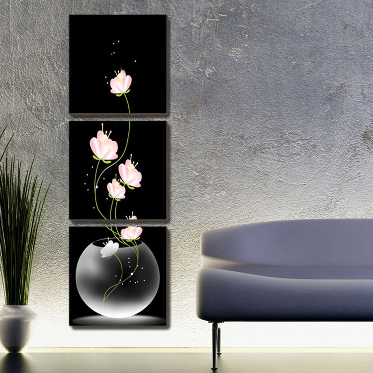 Hot sell beautiful flower modern wall painting home decor art picture paint on canvas print each - Home decor ltd paint ...