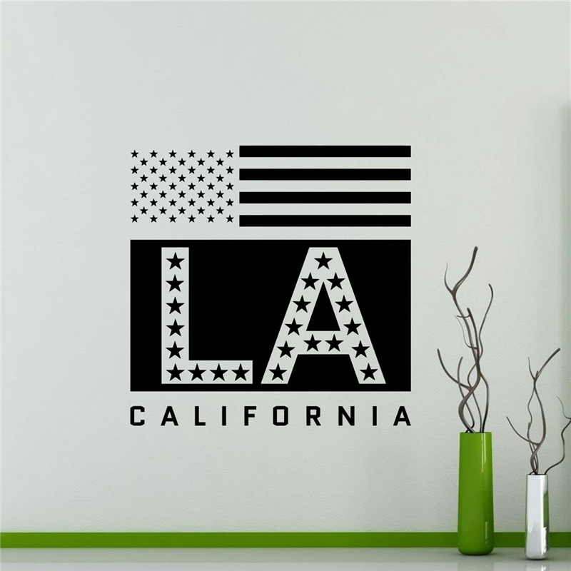 Los angeles wall decal usa california state home decor Home decor los angeles