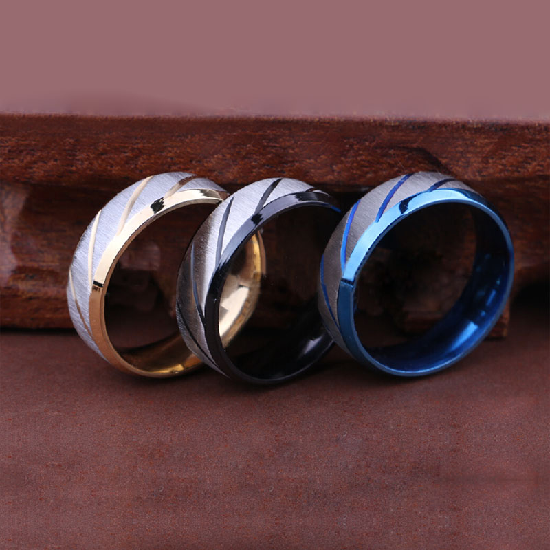 1PC Boys Jewelry Fashion Sand Surface Design Band Ring Titanium Steel 3 Colors eN2yq yJZK hlRI(China (Mainland))