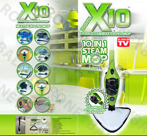 As Seen on TV Multifunctional Household X10 in 1 H20 Steam Mop 1300W 220V + Free Shipping(China (Mainland))