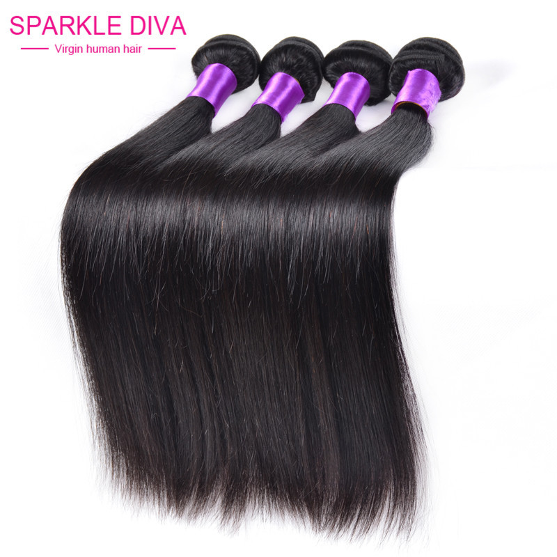 "Гаджет  Queen weave beauty Peruvian hair cheap virgin hair human hair weave straight 4 pcs 12""-28"" fast free shipping Hot Sale Product None Волосы и аксессуары"