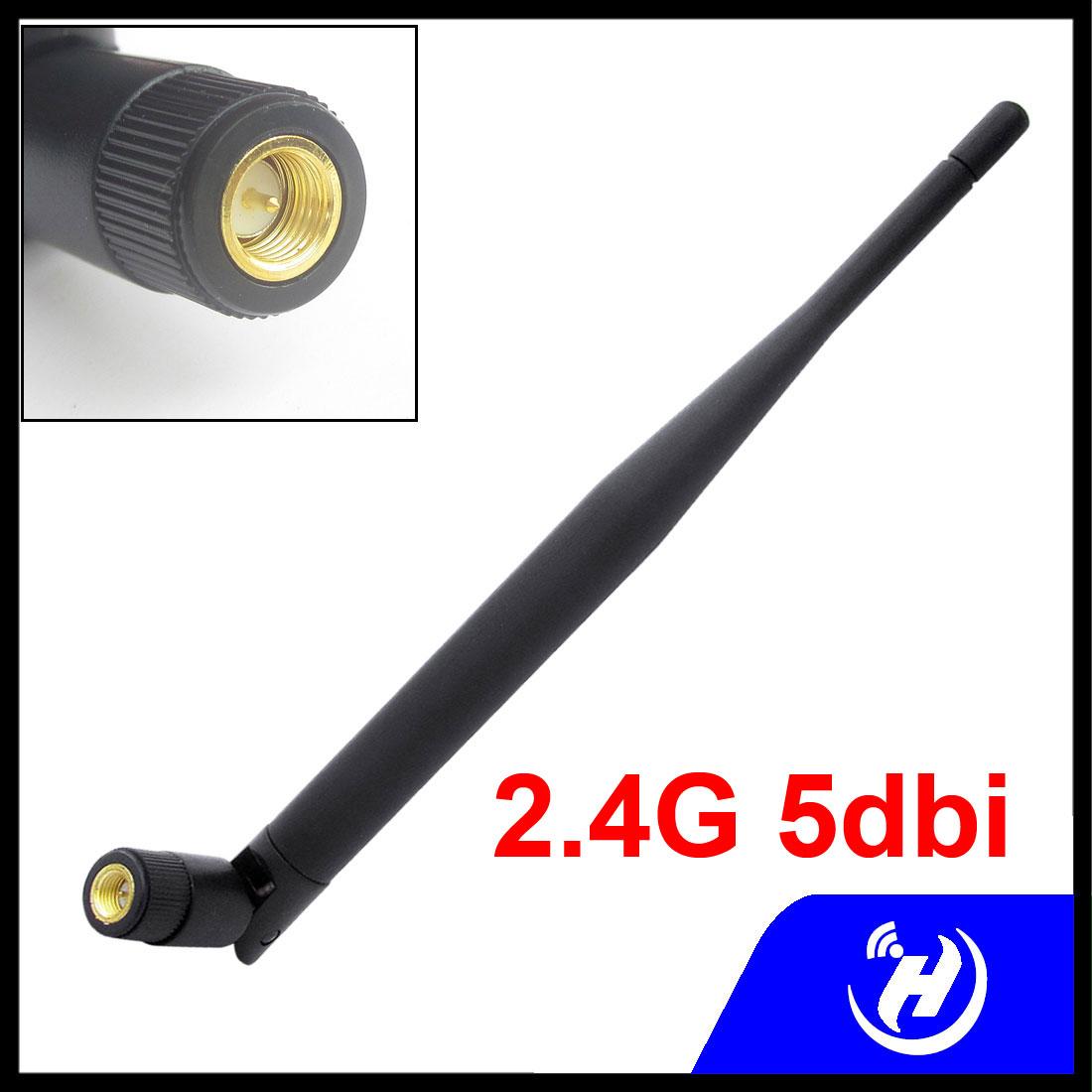 2.4g 5dbi full high gain wifi antenna rubber antenna sma internal thread needle(China (Mainland))