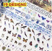 Buy 19Designs Landmark Clock Stamp Cad Bird Car Pattern Japanese Washi Decorative Adhesive DIY Masking Paper Tape Label Sticker gift for $1.29 in AliExpress store