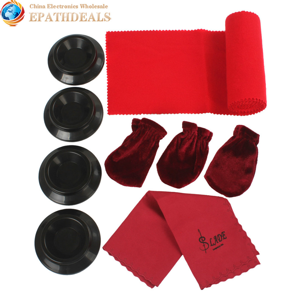 Maintenance Cleaning Kit Keyboard Protective Dirt-proof Cover Pedal Cover Cleaning Cloth +Caster Cups Gripper for Grand Piano(China (Mainland))