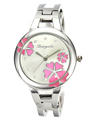 Women s Fashion Flower Crystal Round Stainless Steel Bracelet Woman Metals Bangle Quartz Watch