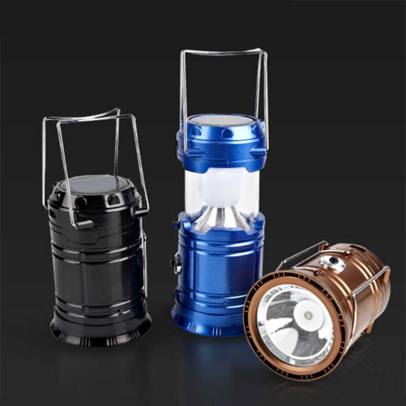 Camping Lantern LED Solar Rechargeable Camp Night Light Flashlights Emergency Lamp Power Bank for Android Cell Phone IOS Iphone(China (Mainland))