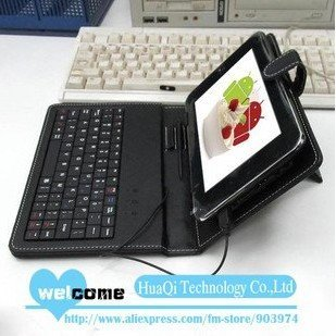 """Free shipping 7""""  8""""  10"""" inch russian keyboard case Leather case with usb keyboard bracket for apad epad ebook mid Tablet PC"""