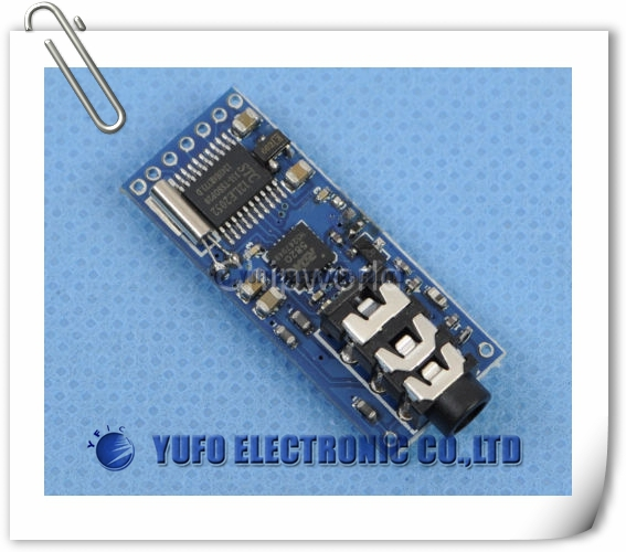 Free Shipping One Lot FM Transceiver Module FM Stereo Radio Module Frequency 76-108 Mhz(China (Mainland))