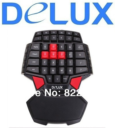 Computer accessories gaming keyboard Delux T9 black mini Wired Keyboard with LED Light OEM dota 2 Computer peripherals(China (Mainland))
