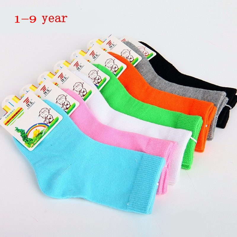 Гаджет    2014 new candy-colored solid all-cotton socks for children None Детские товары
