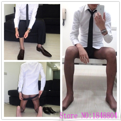 2016 Cozy Men's socks Multicolor pantyhose stockings sexy socks Thin transparent Gay men pantyhose men socks gentleman stocking