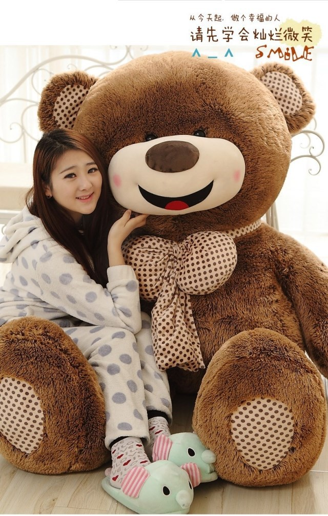 Top Selling 180cm Jumbo Plush Bear Love Toys For Girls China Made Giant Teddy Bear Stuffed Dolls For Baby(China (Mainland))