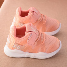 2019 סתיו חדש אופנתי נטו לנשימה ורוד פנאי ספורט נעלי ריצה עבור בנות לבן נעלי בני מותג ילדים נעלי(China)