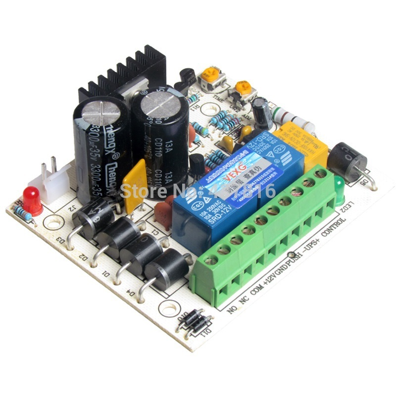 Access control power supply control relay board support Battery discharge protection<br><br>Aliexpress