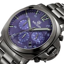 Resistente al agua función calendario pequeño trabajo de línea 1/8 microsegundos a 24 horas relojes militares, Mens relojes de primeras marcas