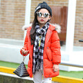 2016 New Arrival Solid Unisex Half New Winter Children Down Jacket Long Thick Warm Feather Padded