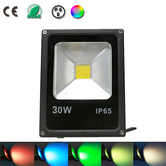 30w spot led flood light projecteur led rgb eclairage. Black Bedroom Furniture Sets. Home Design Ideas