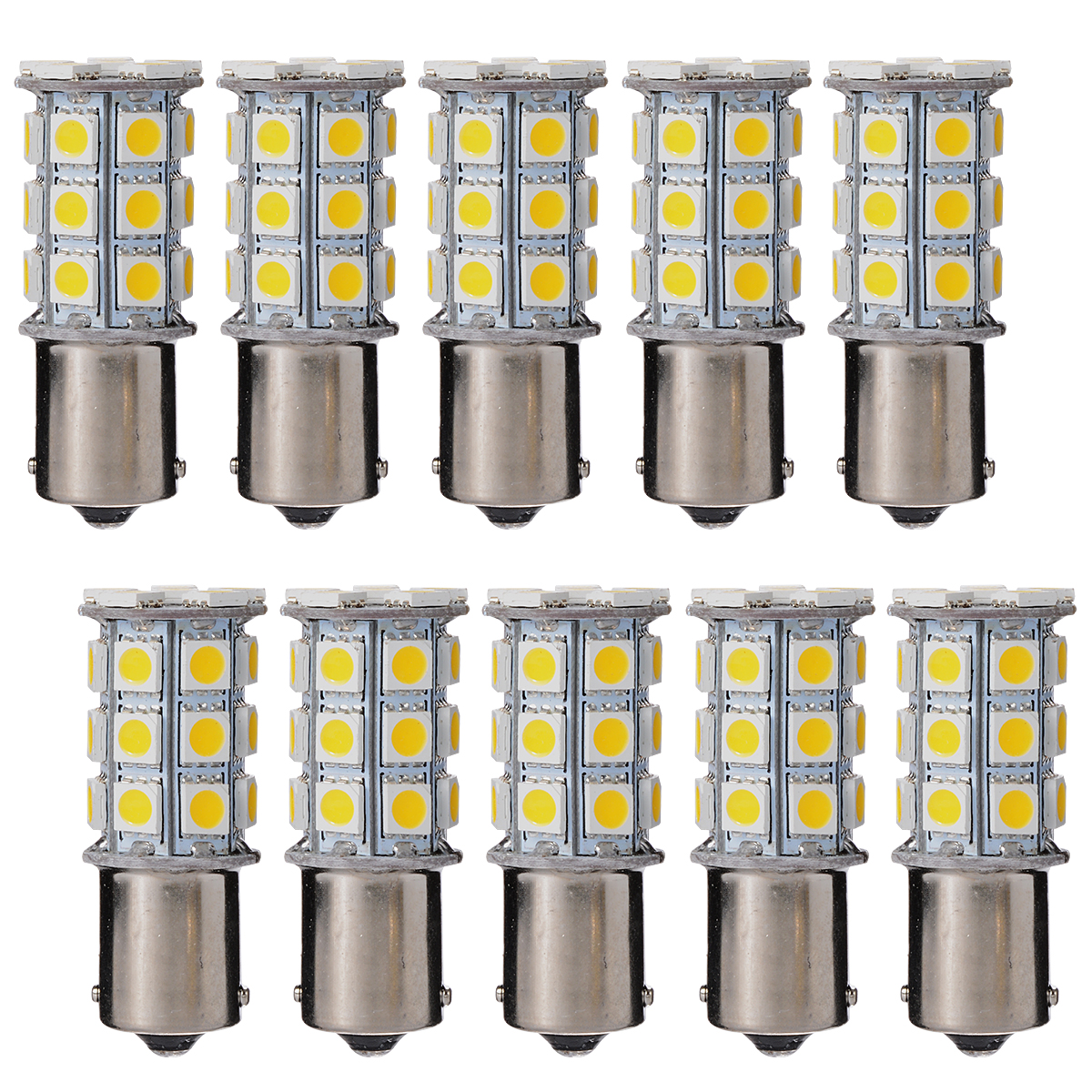 car styling 10pcs/lot 1156 Car Warm White 5050 SMD 27 LED Tail Brake Turn Signal Light Stop Light Bulb 12V MA238(China (Mainland))