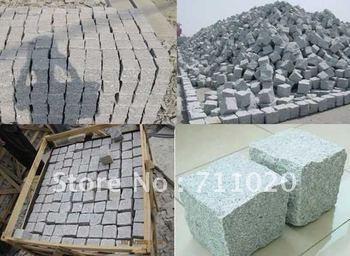 HOT: stone, patio pavers,  step 4, paving & kerb: Pearl Grey(G60), 10X10X10CM, ALL SIDES NATURAL, FOB XIAMEN, USD20.80/M2