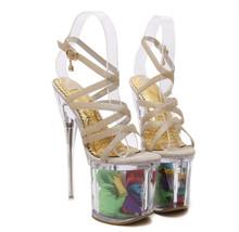 19 cm high sandals 2016 new female summer heels crystal nightclub shoes - bangfu xu's store