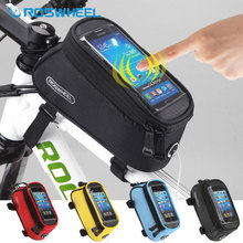 [NaturalHome] Brand Roswheel Bicycle Front Bag Mountain Bike Accessories Bicycle Pannier Sports Bike Phone MTB Cycling Bag(China (Mainland))