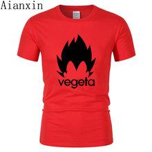AIANXIN 2019 Новые аниме Dragon Ball печать женские мужские футболки Goku Vegeta Забавные футболки 100% хлопок футболки Homme одежда(China)