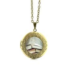 TAFREE TEMPO PARA LER o Livro Do Vintage Colar de Pingente Presente do Amante Jóias Citação Amor Leitura De Vidro Cabochão medalhão colares N481(China)