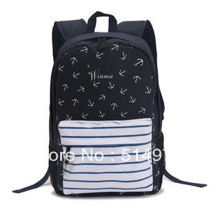 Best Selling!!2013 factory price vintage women backpack preppy style ladies print backpack outdoor rucksack Free Shipping