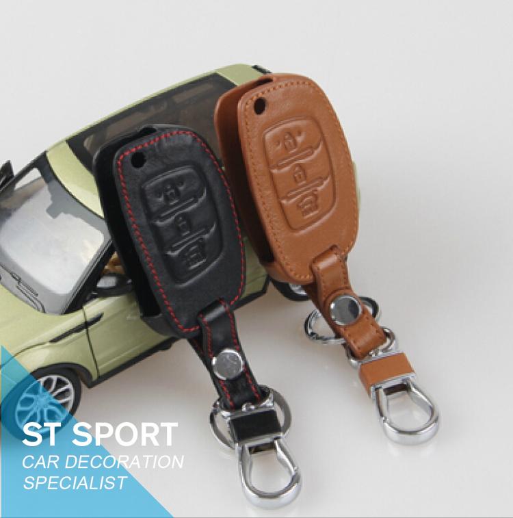 For Hyundai Santa fe ix45 ix35 IX25 solaris verna key wallet leather key case, car accessories