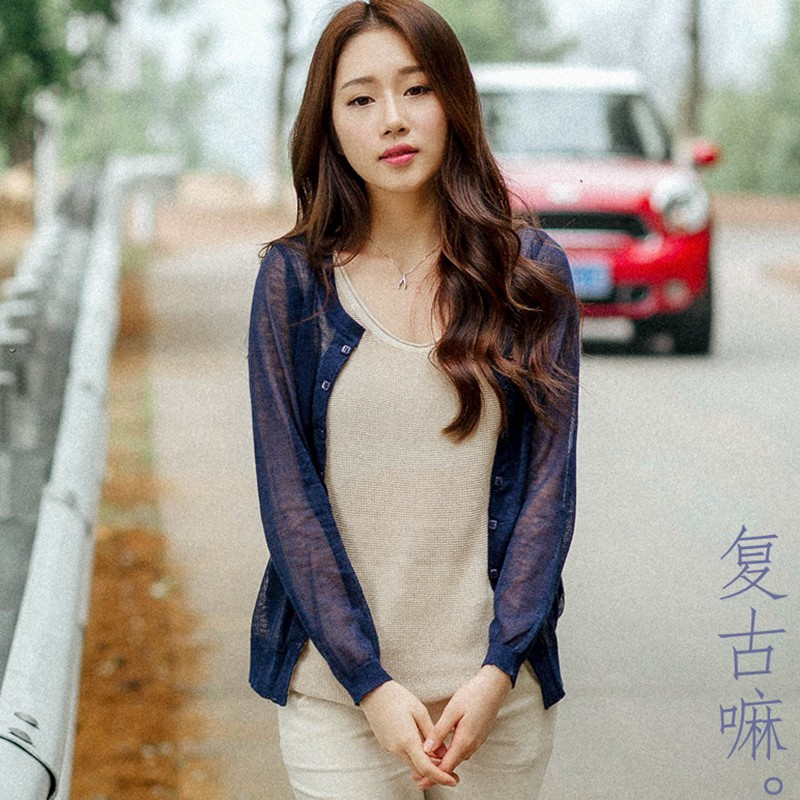 ladies 2015 40-68 kg summer linen cotton coat women thin sun protection clothes cardigan female tops spring loose(China (Mainland))