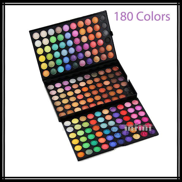 2015 New Professional Makeup Eyeshadow 180 Colors Glitter Eye Shadow Makeup Make Up Palette Kit Free Shipping(China (Mainland))