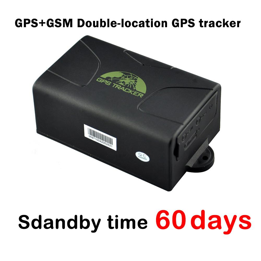 60 days standby time magnet Car GPS tracker GPS104 / TK104,GPS+GSM Double-locatin Waterproof Vehicle GPS tracker(China (Mainland))