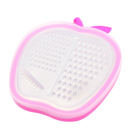 SMILE MARKET Top Selling Plastic Rose Red Color Apple Shaped Fruit and Vegetable Graters(China (Mainland))