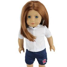2 шт./компл. 1t-рубашка + 1 шорты мода одежда для 18 дюймов американская девушка кукла