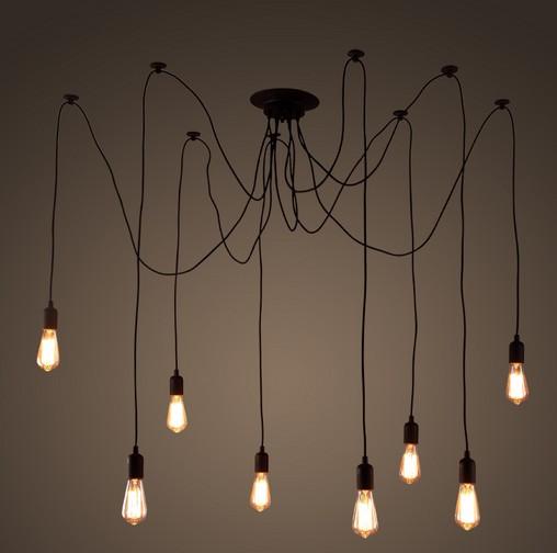 Diy Loteng Gaya Rak Mengangkat Droplight Edison Lampu