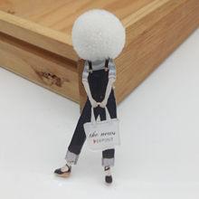 Fashion Bros Pin untuk Wanita Bros Lucu Gadis Kartun Model Akrilik Bros Kawaii Pompom Pakaian Perhiasan Aksesoris(China)
